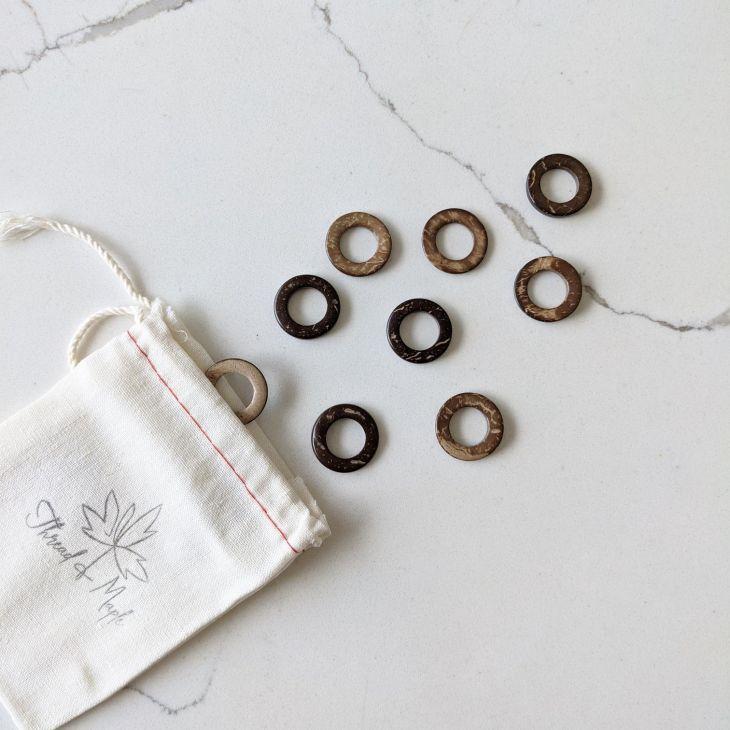 Thread & Maple Jumbo Coconut Stitch Markers
