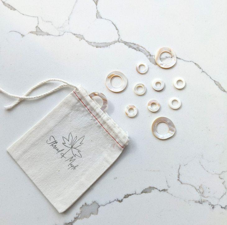 Thread & Maple Seashell Stitch Markers