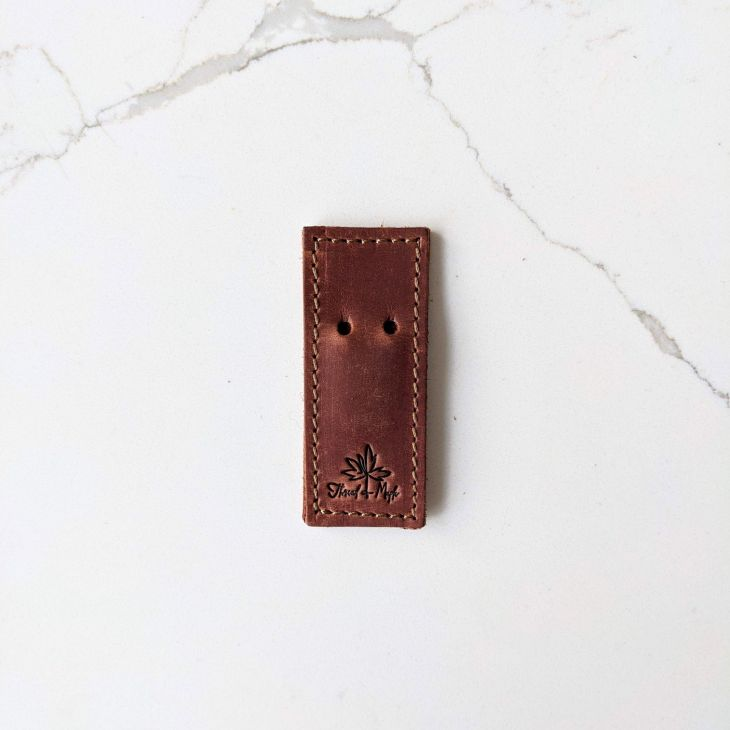 Thread & Maple Leather Tapestry Needle Holder